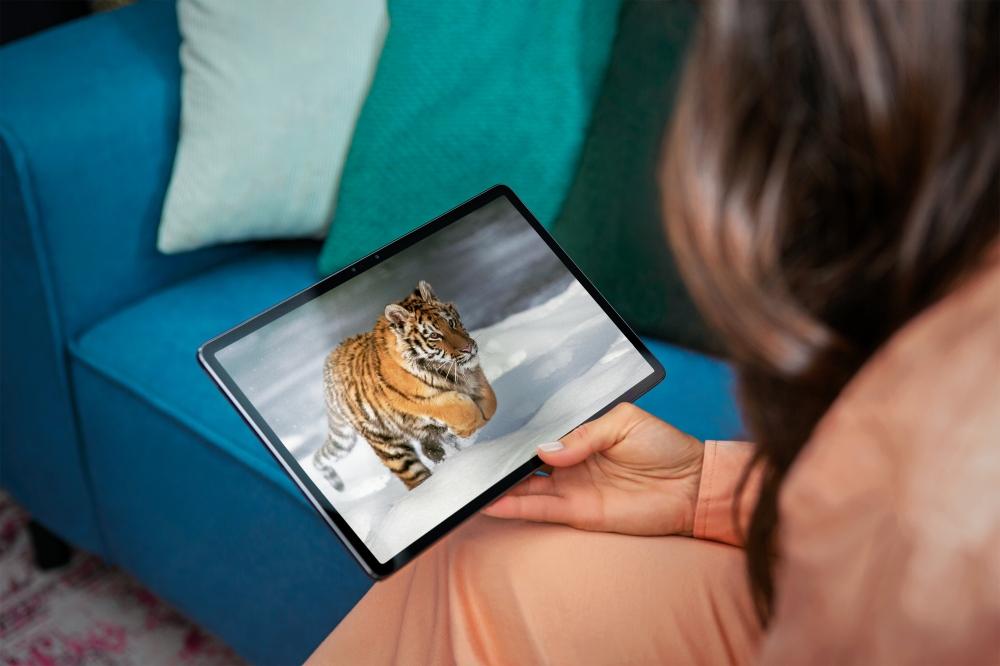 Lenovo Tab P11 Pro_Lifestyle_tiger